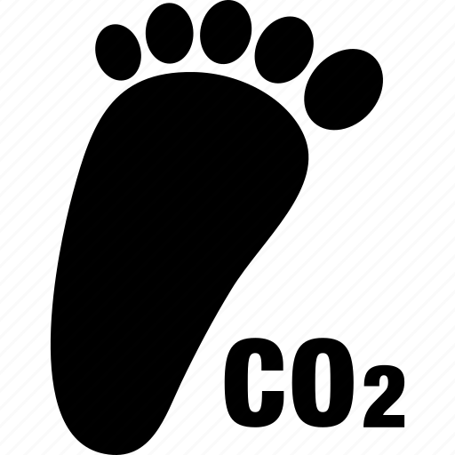 carbon, co2, foot, footprint, pollution icon