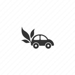 car, drive, environment, leaf, pollution, preservation, road, traffic, transport, transportation, travel, vehicle icon