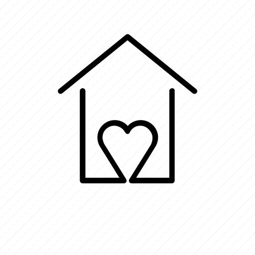 cozy, heart, home, lovely, welcome icon