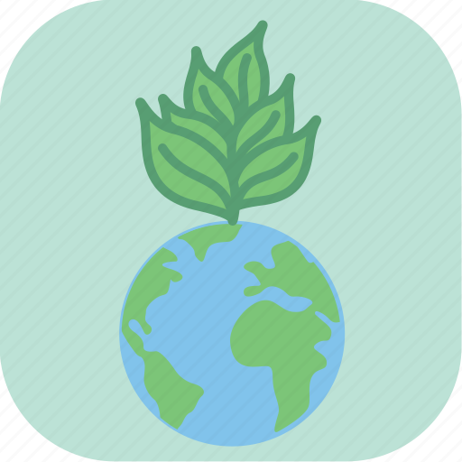 earth, eco, ecology, environment, green, planet, seedling icon