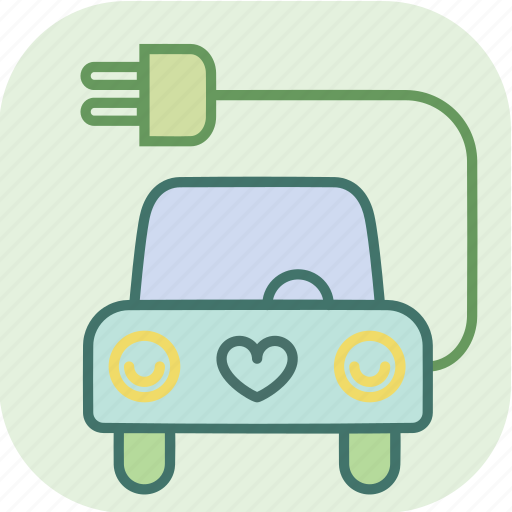 auto, car, electric, energy, environment, power, transport icon