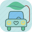 car, ecology, electric, energy, environment, green, leaf icon