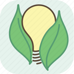 bulb, eco, ecology, electric, energy, environment, green icon