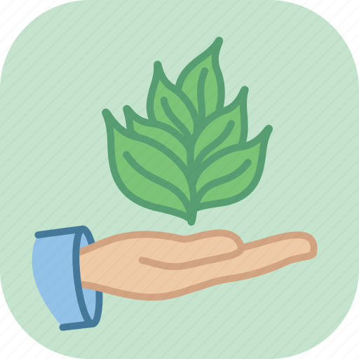ecology, environment, green, hold, leaf, nature, seedling icon