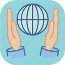 eco, ecology, environment, globe, planet, protect, protection icon