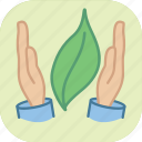 eco, ecology, environment, green, leaf, protect, protection icon