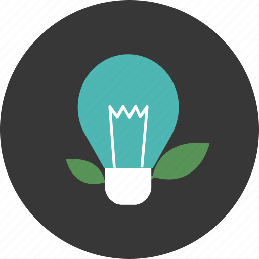 conservation, ecology, environment, innovation, leaf, lightbulb, nature icon