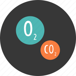 carbon, conservation, dioxide, ecology, environment, nature, oxygen icon