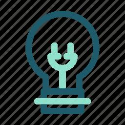 eco, energy, light, lightbulb, renewable icon