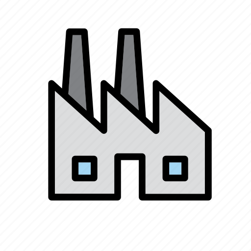 building, environment, environmental, environmentalism, factory, green issues, plant icon
