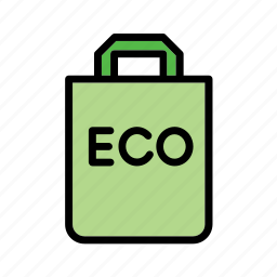 bag, eco, ecology, environmental, green issues, paper, recylcing icon