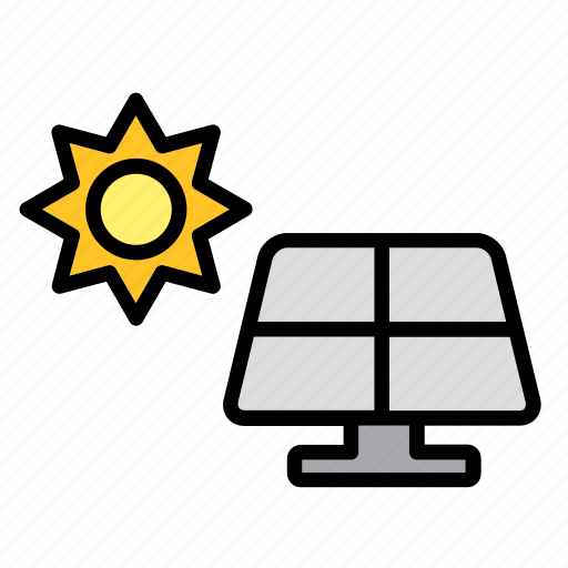 alternative, energy, panel, power, renewable, solar, sun icon