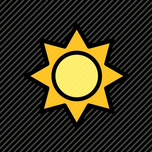 nature, sun, weather icon