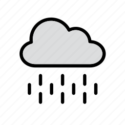cloud, nature, rain, raining, rainy, weather icon