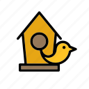 animal, bird, birdhouse, garden, house icon