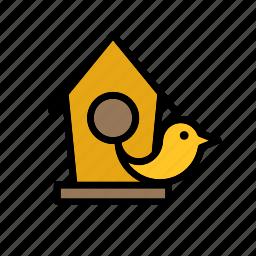 animal, bird, birdhouse, garden, house icon