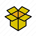 box, cardboard, carton, move, package, packaging icon