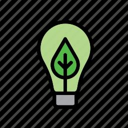 bulb, environment, environmental, environmentalism, leaf, light, lightbulb icon