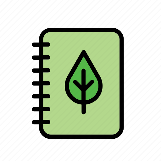 environment, environmental, environmentalism, green issues, leaf, nature, notebook icon