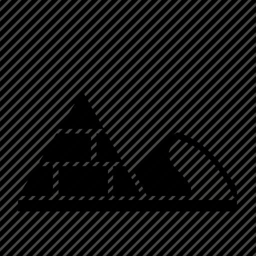 arid, cairo, desert, dune, egypt, pyramid, sand icon