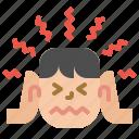 head, headache, migraine, pain, severe
