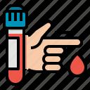 blood, exam, medical, test, tube icon