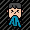 cough, epidemic, flu, sick, sneeze icon