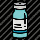 bottle, drugs, medical, medicine, vaccine icon
