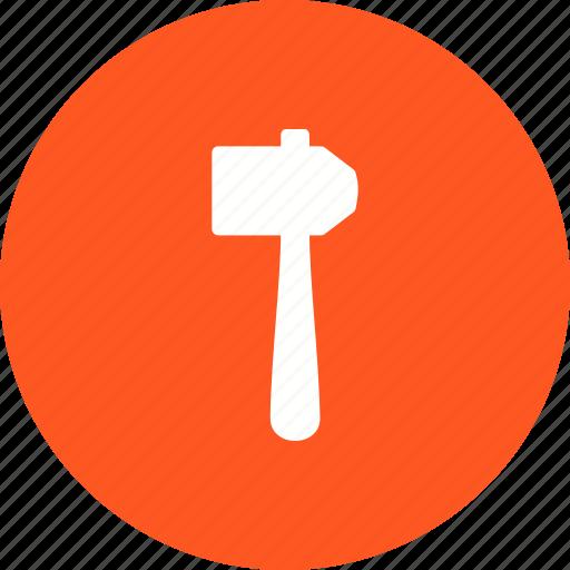 construction, equipment, hammer, hardware, repair, tool, work icon