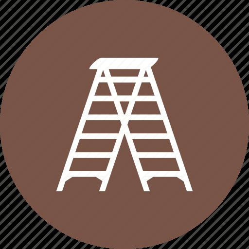 climb, climbing, ladder, tall, wood, wooden, work icon