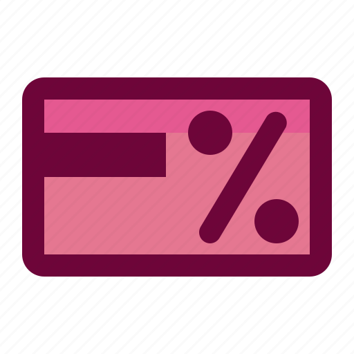 card, credit, discount icon