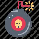 bomb, detonation, war, weapon icon