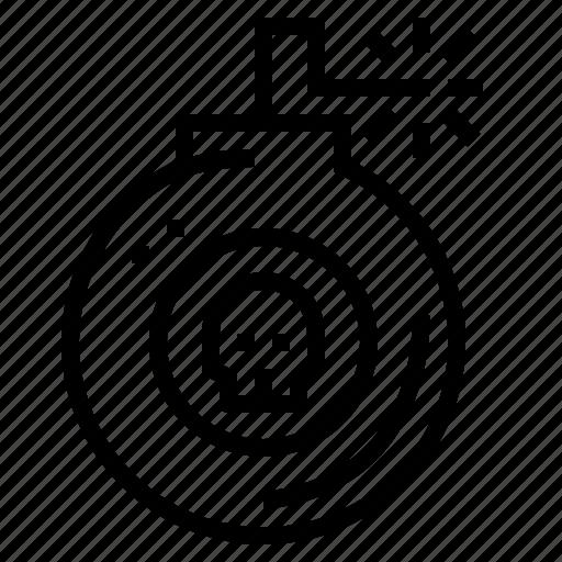 Bomb, detonation, war, weapon icon - Download on Iconfinder