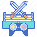 arena, console, game, sword icon