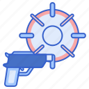 first, fps, person, shooter icon