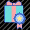 gift, gift box, member, present