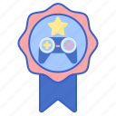 achievement, award, badge, game icon