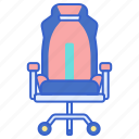 chair, gamer, gaming, seat icon