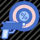gun, kill, percentage, ratio icon