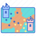 game, map, moba, strategy icon