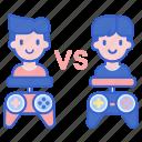 gamer, player, pvp, versus icon
