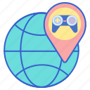 gamer, globe, region, world icon