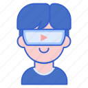 goggles, reality, virtual, vr icon