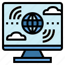 computer, internet, technology, wireless icon