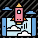 rocket, spacecrafts, spaceship, transport icon