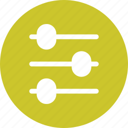 control, horizontal, slide, volume icon