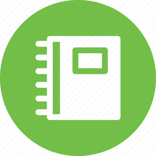 book, copybook, notebook, report icon