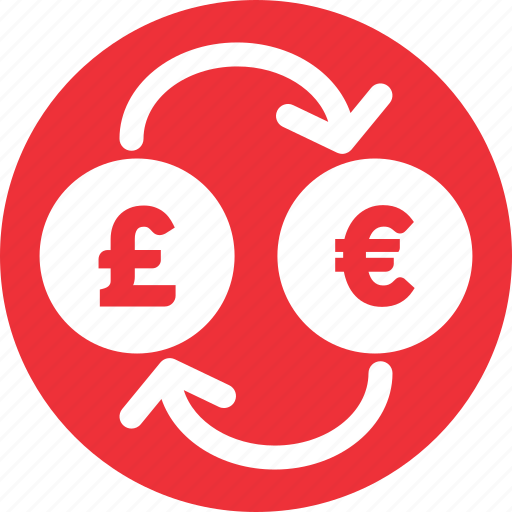 currencies, euro, euro to pound, exchange, pound, pound to euro icon