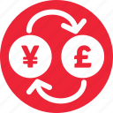 currency, exchange, market, pound, stocks, yen icon