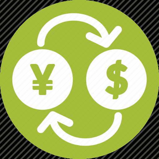 currency, exchange, market, stocks, usd, yen icon